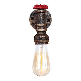 preiswerte Beleuchtung-Ministil / Rohr Einfach / Retro / Vintage Wandlampen Wohnzimmer / Korridor Metall Wandleuchte 110-120V / 220-240V 60 W