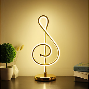 cheap Table Lamps-Table Lamp / Desk Lamp Decorative / Lovely Simple / Modern Contemporary LED power supply For Study Room / Office / Girls Room Aluminum 220-240V Gold / White