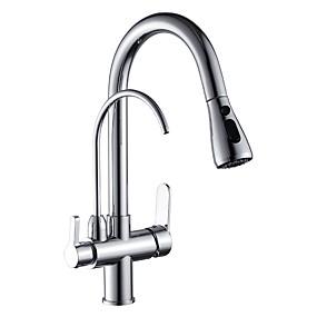 preiswerte Veredelte Küchenarmaturen-Armatur für die Küche - Zwei Griffe Ein Loch Chrom Becken