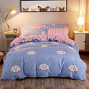preiswerte Karikatur-Duvet-Abdeckungen-Bettbezug-Sets Luxus / Cartoon Design / Zeitgenössisch Polyester Bedruckt 4 StückBedding Sets
