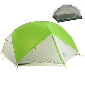 preiswerte Naturehike®-Naturehike 2 Personen Zelte für Rucksackreisen Außen Tragbar Windundurchlässig Regendicht Doppellagig Camping Zelt >3000 mm für Wandern Camping Reisen 210*255*100 cm