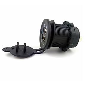 billige Bil Oplader-LOSSMANN Biler / Lastbil / Motercykel Bil Oplader 2 USB-porte for 5 V / vandafvisende / UV-resistent / Udendørs / Hot / SUV