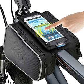 preiswerte ROSWHEEL®-ROSWHEEL Handy-Tasche Fahrradrahmentasche 5 Zoll Touchscreen Radsport für iPhone 8/7/6S/6 iPhone X iPhone XR Schwarz Radsport / Fahhrad / iPhone XS / iPhone XS Max / Wasserdichter Verschluß