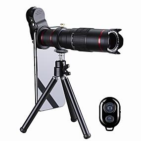 billige Mobilkamera vedlegg-mobiltelefon linse lange brennobjektivglass / plast og metall / aluminiumslegering 20x makro 35 mm 3 m 13 ° objektiv med stativ / kreativ