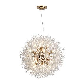 povoljno Lámpatestek-16-svjetla moderni galvanski lusteri luster vatromet vodio privjesak nordijskog stila dnevna soba blagovaonica g9 baza žarulja