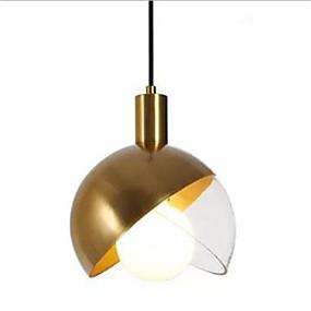 povoljno Viseća rasvjeta-Noviteti Privjesak Svjetla Ambient Light Antique Brass Metal Glass Kreativan 110-120V / 220-240V Meleg fehér