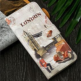 povoljno Maske za mobitele-Θήκη Za Samsung Galaxy A5(2018) / A6 (2018) / A6+ (2018) Novčanik / sa stalkom / Zaokret Korice Pogled na grad Tvrdo PU koža