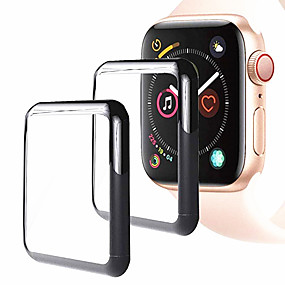 preiswerte Smartwatch Displayschutz-Displayschutzfolie Für Apple Watch Series 4 Hartglas High Definition (HD) / 9H Härtegrad / Explosionsgeschützte 2 Stück