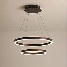 povoljno Stropna svjetla i ventilatori-KAKAXI Cirkularno Lusteri Downlight Anodized Aluminij Acrylic Prilagodljiv, Zatamnjen 220-240V / 100-120V Zatamnjen daljinskim upravljačem