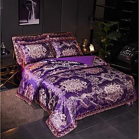 preiswerte Textilien für Zuhause-Bettbezug-Sets Luxus Polyester Jacquard 4 StückBedding Sets