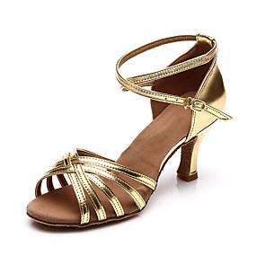 preiswerte Schuhe und Taschen-Damen Tanzschuhe Satin Schuhe für den lateinamerikanischen Tanz Absätze Schlanke High Heel Maßfertigung Braun / Leopard / Khaki / Leistung / Leder