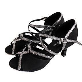 preiswerte Schuhe und Taschen-Damen Tanzschuhe Wildleder Schuhe für den lateinamerikanischen Tanz Sandalen Keilabsatz Maßfertigung Schwarz