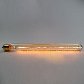 preiswerte LED-Lichter-1pc 60 W E26 T30 Warmes Weiß 2000 k Dekorativ Glühbirne Vintage Edison Glühbirne 110-130 V