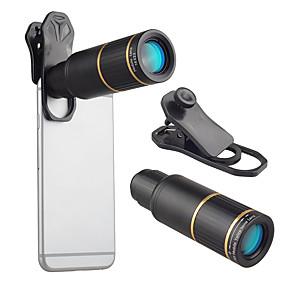 billige Mobilkamera vedlegg-Mobiltelefon Lens Objektiv med lang brennvidde glass / Aluminiumslegering 10X og over 32 mm 3 m 9 ° Objektiv med stativ