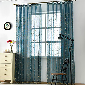 cheap Curtains & Drapes-Contemporary Sheer One Panel Sheer Living Room   Curtains / Embroidery