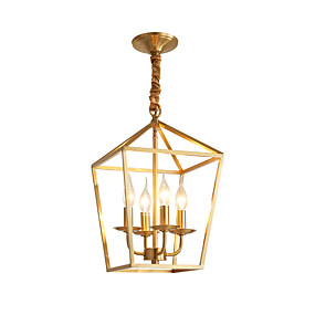 povoljno Viseća rasvjeta-LightMyself™ 4-Light Cirkularno / Svijeća stilu / sputnjik Privjesak Svjetla Ambient Light Brass Metal New Design 110-120V / 220-240V