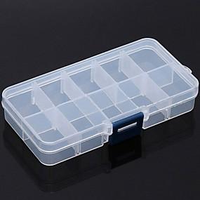 preiswerte Reise-Aufbewahrungs Box / Reisemedizin Box / Etui / Reisekosmetiktasche Einstellbar PP (Polypropylen) 13*6*2.2 cm
