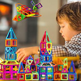 preiswerte Ideias Para Aproveitar o Tempo Livre-Magnetische Bauklötze Magnetische Fliesen Magnetspielsachen 30-199 pcs kompatibel Legoing Magnetisch Jungen Mädchen Babys Spielzeuge Geschenk / Bausteine