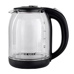 preiswerte Elektrische Wasserkocher-LITBest Wasserkocher HG-7833 Edelstahl Schwarz