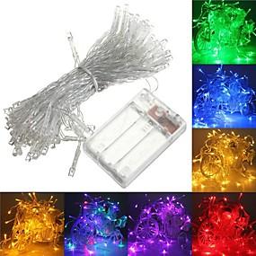 preiswerte LED-Lichter-6m Leuchtgirlanden 40 LEDs Warmes Weiß / RGB / Weiß Kreativ / Party / Für Fahrzeuge geeignet Batterien angetrieben 1pc