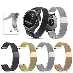 baratos Acessórios para Smartwatch-Pulseiras de Relógio para vivomove HR / Vivoactive 3 Garmin Pulseira Esportiva / Pulseira Estilo Milanês Aço Inoxidável Tira de Pulso