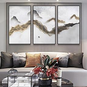 preiswerte Sales-Gerahmtes Leinenbild Bedruckt - Abstrakt Aleación de Aluminio Skizze Wandkunst