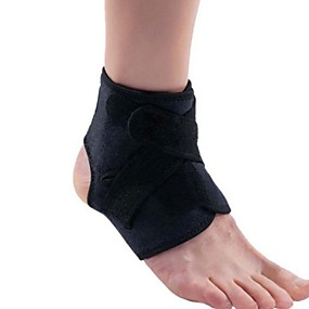 cheap Massagers & Supports-Safety Ankle Support Gym Running Protection Foot Bandage Elastic Ankle Brace Black Band Anti-slip Guard Sport Fitness Support