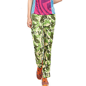 cheap Camping, Hiking & Backpacking-Women's Hiking Pants Trousers Camo Summer Outdoor Waterproof Sunscreen Breathable Quick Dry Pants / Trousers Bottoms Yellow Camping / Hiking / Caving Traveling S M L XL
