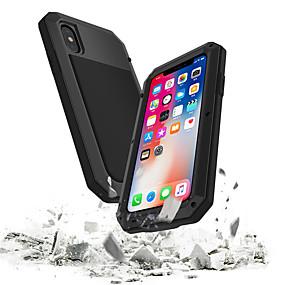 billige Telefoner og tilbehør-Etui Til Apple iPhone XS / iPhone XR / iPhone XS Max Vanntett / Støtsikker / Støvtett Heldekkende etui Rustning Hard Herdet glass / Metall