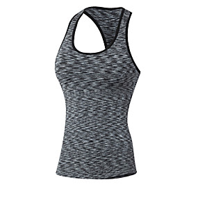 cheap Yoga & Fitness-Women's Racerback Yoga Top Stripes Fitness Gym Workout Top Sleeveless Activewear Breathable Quick Dry Sweat-wicking Stretchy