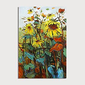 povoljno Slike za cvjetnim/biljnim motivima-Hang oslikana uljanim bojama Ručno oslikana - Sažetak Cvjetni / Botanički Moderna Uključi Unutarnji okvir / Prošireni platno