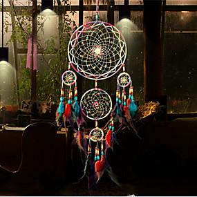 cheap Dreamcatcher-Handmade Dream Catchers Feather Bohemia Style Wall Decorations