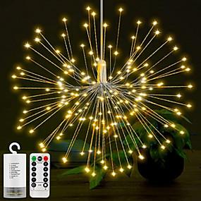 povoljno Svjetlosne trake i žice-0.3M Žice sa svjetlima 150 LED diode 6kom Toplo bijelo RGB Kreativan New Design Party Baterije su pogonjene