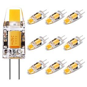 cheap LED Bi-pin Lights-10pcs 1.5 W LED Bi-pin Lights 150 lm G4 1 LED Beads COB Lovely Warm White 12 V