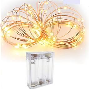 preiswerte Lampen-2m Leuchtgirlanden 20 LEDs SMD 0603 Warmes Weiß / Weiß / Rot Wasserfest / Kreativ / Schneidbar 5 V 1pc