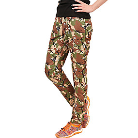 cheap Camping, Hiking & Backpacking-Women's Hiking Pants Trousers Camo Summer Outdoor Waterproof Sunscreen Breathable Quick Dry Pants / Trousers Bottoms Brown Camping / Hiking / Caving Traveling S M L XL