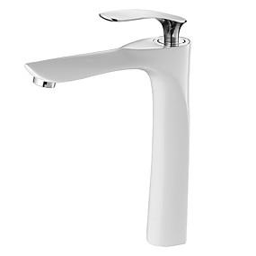 preiswerte Armaturen-Waschbecken Wasserhahn - Verbreitete Chrom / Lackierte Oberflächen Becken Einhand Ein LochBath Taps / Messing