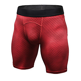 cheap Yoga & Fitness-YUERLIAN Men's High Waist Compression Shorts Underwear Breathable Quick Dry White Black Red Fitness Gym Workout Running Sports Activewear High Elasticity Slim