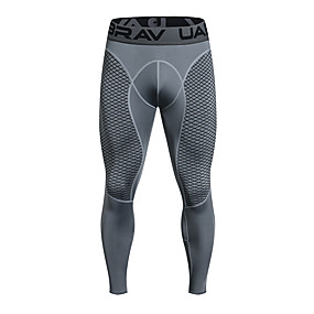 cheap Men's Activewear-UABRAV Men's Running Tights Leggings Compression Pants Athletic Leggings Winter Fitness Gym Workout Basketball Running Jogging Breathable Quick Dry Sport Black Gray / Stretchy / Athleisure / Skinny