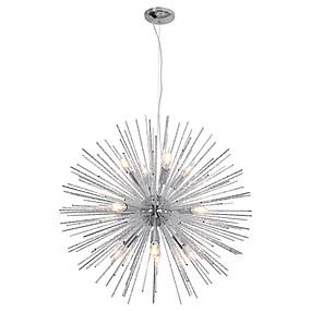 povoljno Viseća rasvjeta-Metalni lusteri od 75 cm nordijski metalni lusteri vatromet 12-svjetlosni moderni dnevni boravak blagovaonica privjesci svjetla e12 / e14 baza žarulja