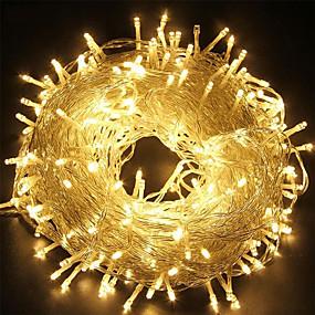 povoljno Božična svjetla-100m 32.8ft 800led string svjetla svjetlucava zvijezda zavjesa 3000lm ip65 vodootporan za vještice za vještice Halloween, zatvoreni vjenčani dom, spavaća soba popločani 1set