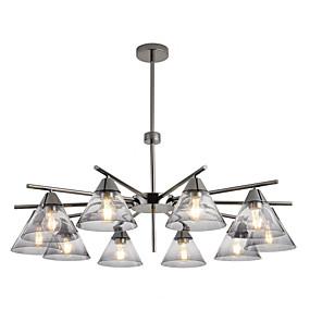 cheap Lantern Design-ZHISHU 10-Light 95 cm New Design / WIFI Control Chandelier Metal Glass Sputnik / Industrial Chrome / Electroplated Contemporary / Chic & Modern 110-120V / 220-240V