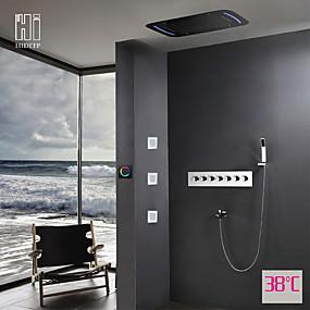 preiswerte Duscharmaturen-Duscharmaturen - Moderne Chrom Wandmontage Keramisches Ventil
