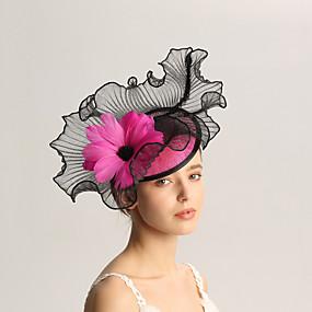 povoljno Melbourne Cup Carnival Hats-Lan / Perje Fascinators s Perje 1pc Vjenčanje / Special Occasion / Čajanka Glava