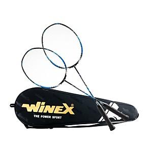 preiswerte Badminton-WINEX Leopard 600 Badmintonschläger 1 Stück Kohlefaser Unverformbar / Geringe Windlast / tragbar Innen Außen