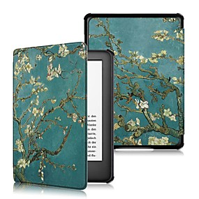 cheap Other Case-Case For Amazon Kindle Lite(2019) / Kindle PaperWhite 4 / Kobo Forma Shockproof / Flip / Origami Full Body Cases Tree / Flower Hard PU Leather