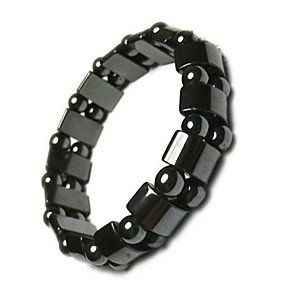 cheap Health & Personal  Care-Adjustable Weight Loss Round Black Stone Magnetic Therapy Bracelet Health Care Luxury Slimming Product