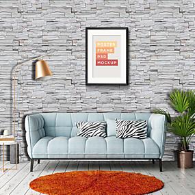 preiswerte Haus & Garten-Tapete Vinylal Wandverkleidung - Selbstklebend Art Deco / Ziegel
