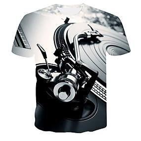 cheap Athleisure Wear-Men's T shirt Graphic Machine Plus Size Print Tops Gray