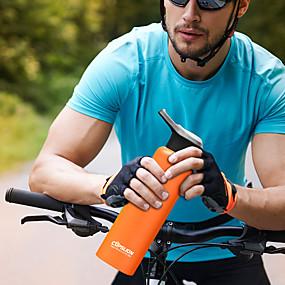 preiswerte Trinken & Filtern-Wasserflaschen 750 ml Edelstahl Isoliert Langlebig Extraleicht(UL) für Wandern Radsport / Fahhrad Camping Schwarz Weiß Orange Blau